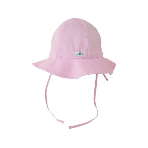 Baby sol hat m. uv - LYSERØD