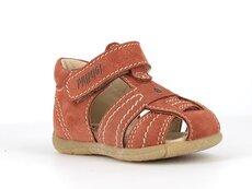 Sandal m. lukket tå og bagkappe - RUST