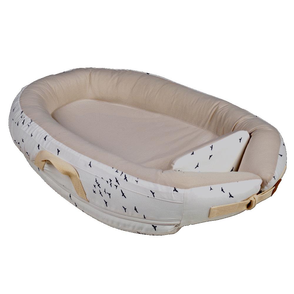 Image of Voksi Baby nest premium white-flying (616ab260-fdfb-46cb-9385-3c55e4487f89)