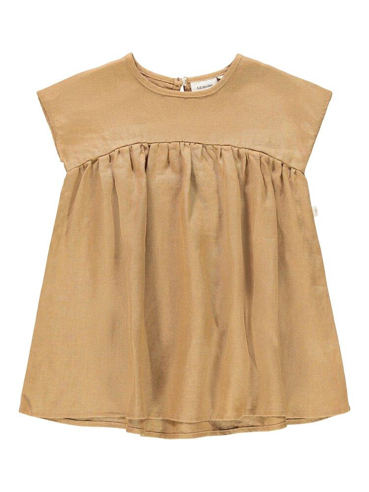 Lil' Atelier Saga SS loose kjole - TOBACCOBRW