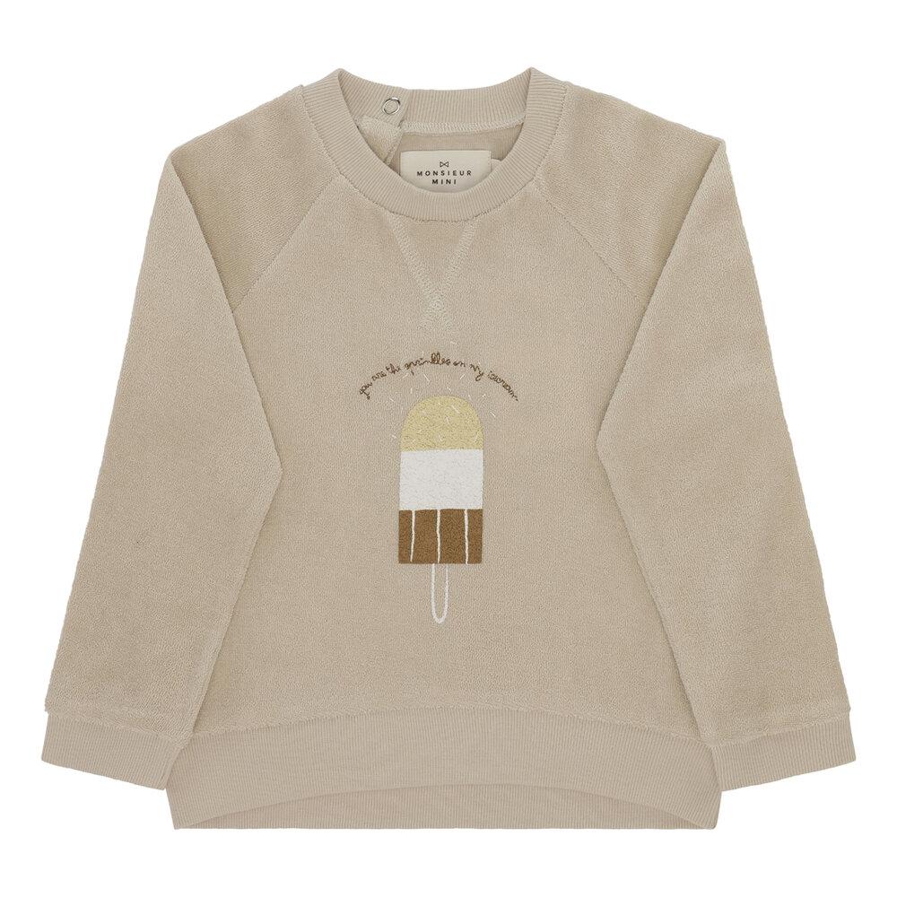 Image of Monsieur Mini Sweatshirt Terry - OFFWHITE (18f1301f-af35-415d-85b0-5dd46e0cdf17)