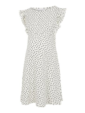 Evelin S/L jersey abk kjole - SNOW WHITE