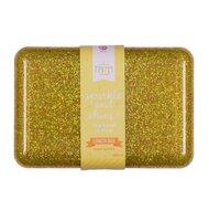 Lunch box - glitter gold