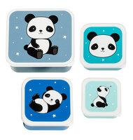 Lunch & snack box sæt - panda