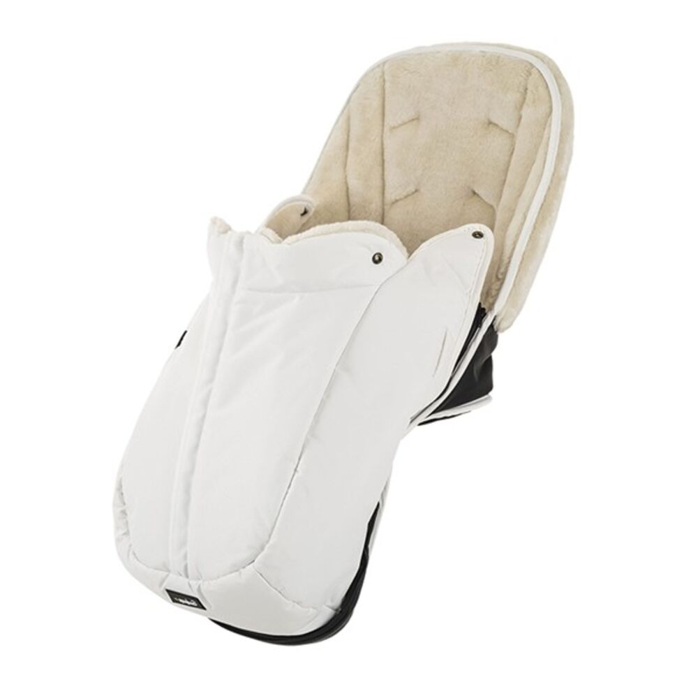 Image of Emmaljunga NXT winter seat liner - leatherette white (96223419-2293-4853-a67a-e81b47af1bee)