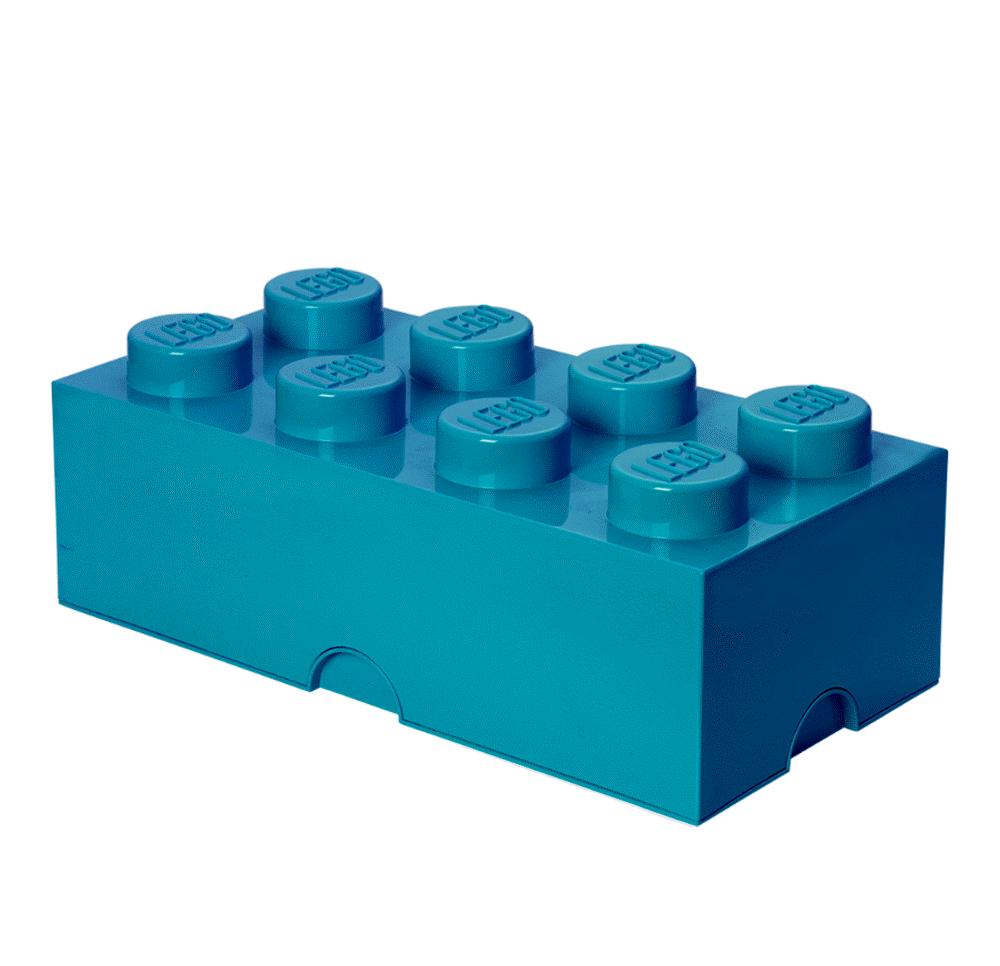 Image of LEGO Storage Lego Opbevaringskasse 8 - Azur Blå (e733c886-3435-4441-8e79-65d6393ec9da)
