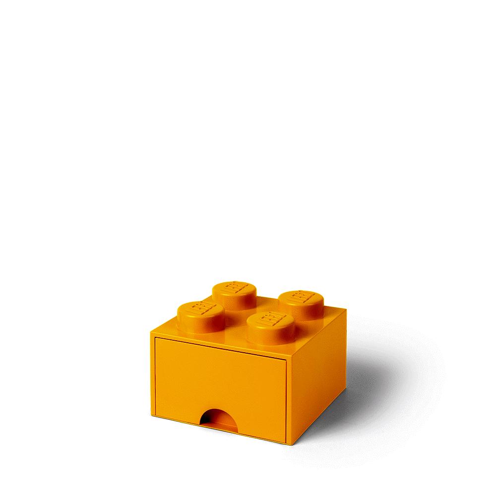 Image of LEGO Storage LEGO Opbevaringsskuffe Brick 4 - Bright Gul (7334c681-294c-4bc6-ad3b-444c134adf3b)