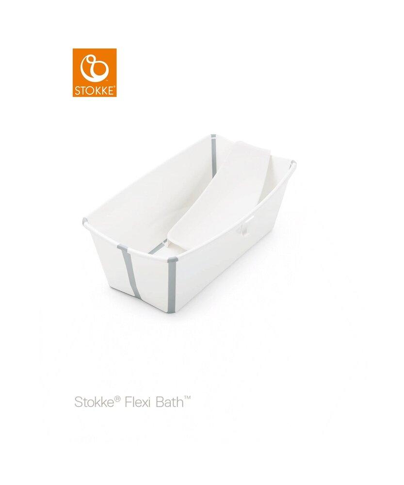 Image of Stokke® Flexi Bath og Newborn Support Med Varmefølsom Prop - Hvid (3ecc1efe-17a1-4edf-813e-6b2e9002b484)