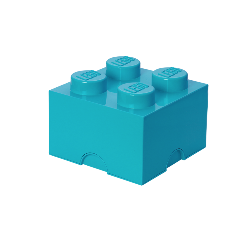 Image of LEGO Storage Lego Opbevaringskasse 4 - Azur Blå (2453ff30-be3b-4971-8e30-87eeac3152e1)
