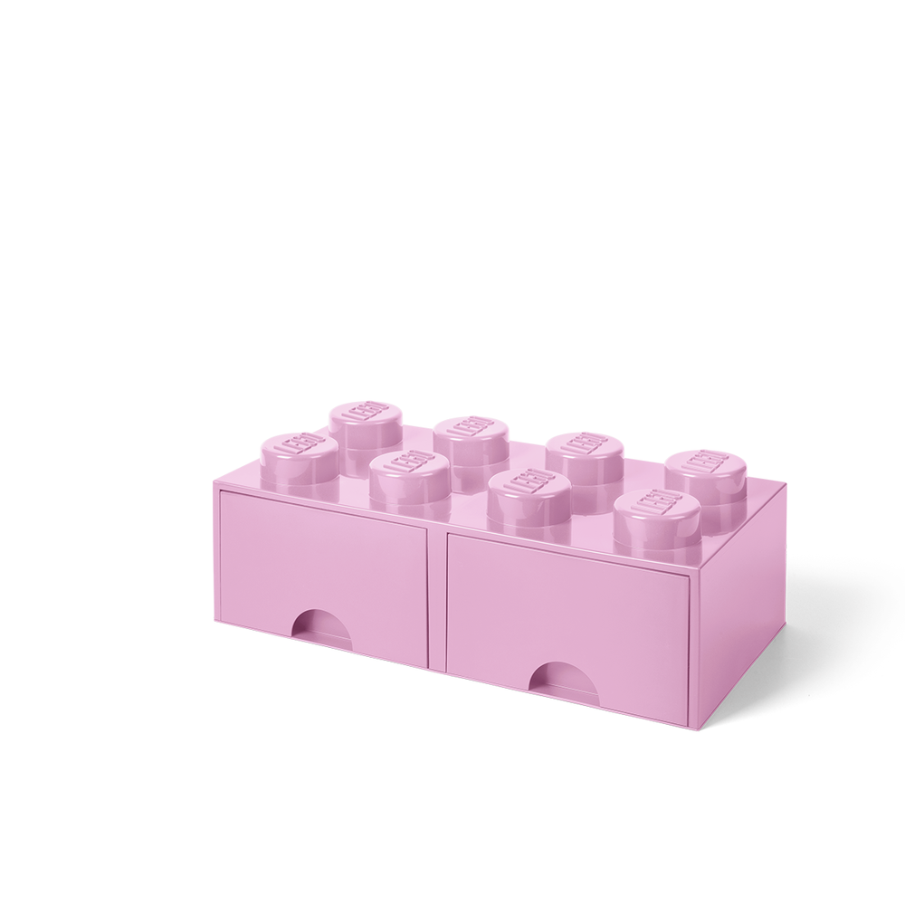 Image of LEGO Storage LEGO Opbevaringsskuffe Brick 8 - Lys Pink (e53a40c1-798f-461f-aa11-d47520c48009)