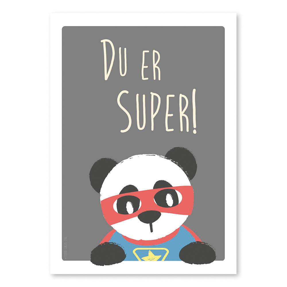 Image of Studio Circus Super Panda Plakat - A4 (6d8d4a3f-f659-4d27-8112-4cfbc7a4c5d2)