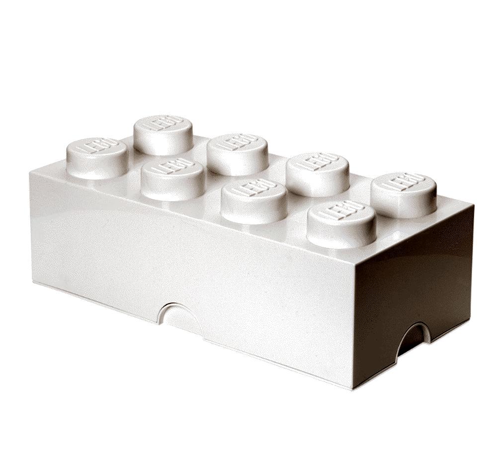 Image of LEGO Storage Lego Opbevaringskasse 8 - Hvid (26723c49-455e-4437-a46e-dd3c54c8c254)