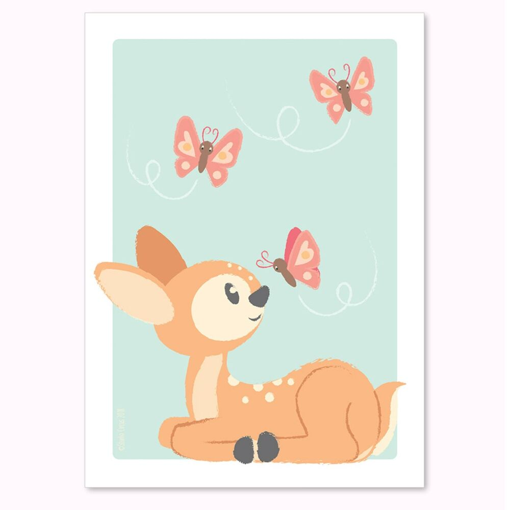 Image of Studio Circus Bambi Plakat, A4 (ba656297-a42e-4e9e-b383-8aa94199e1b2)