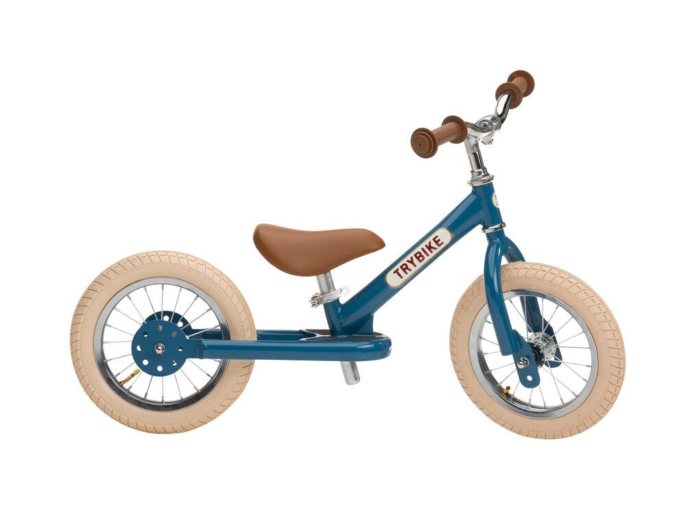 Image of Trybike 2-Hjul, Vintage Blå (6f14108c-26a3-43bf-ae37-e338d986d0fb)