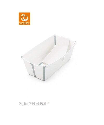 Flexi Bath og Newborn Support Med Varmefølsom Prop - Hvid