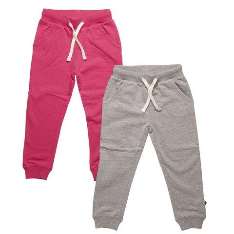 2 Pak Basic Sweatbuks - Pink/Grå/577