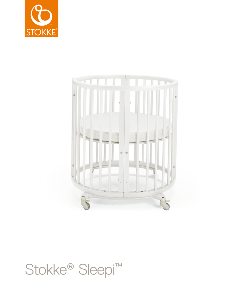 Image of Stokke® Sleepi Mini Seng + Bed Extention - White (478c8f32-1b35-4f76-aac8-864ef8ee143c)