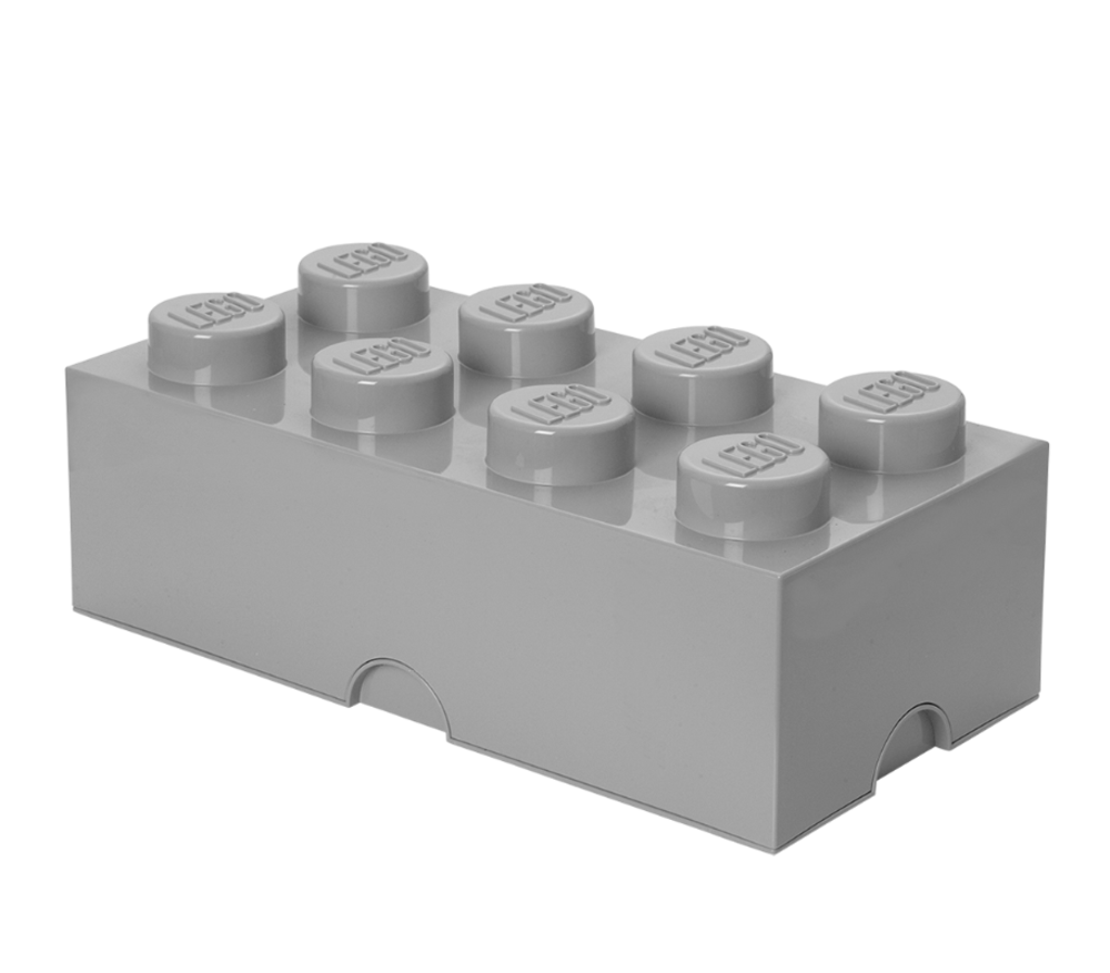 Image of LEGO Storage Lego Opbevaringskasse 8 - Grå (22a0841c-8b39-42ec-be68-4a42de61f154)