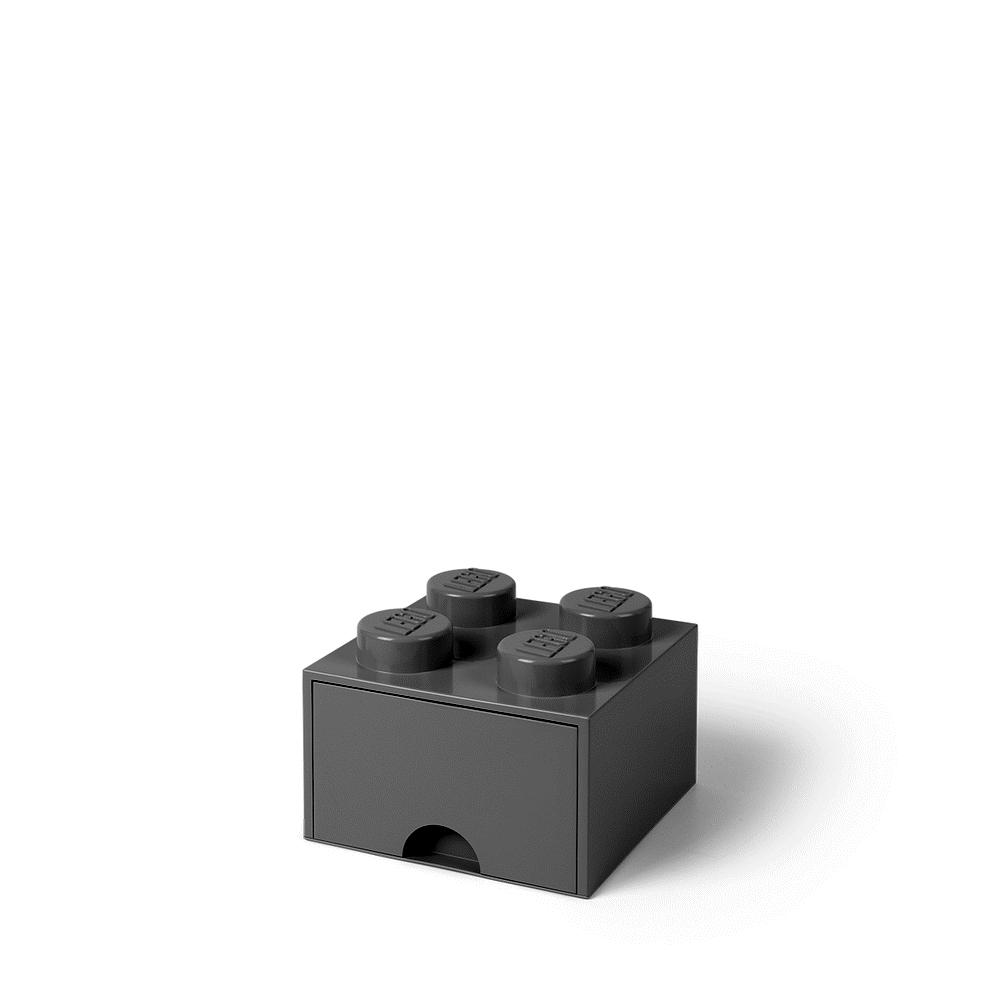 Image of LEGO Storage LEGO Opbevaringsskuffe Brick 4 - Medium Stone Grå (f53f2cf4-cd66-416c-ba74-47242dd79151)