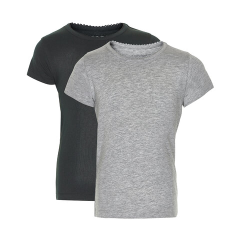 2 Pak Basic T-Shirt - Black/Grey/193