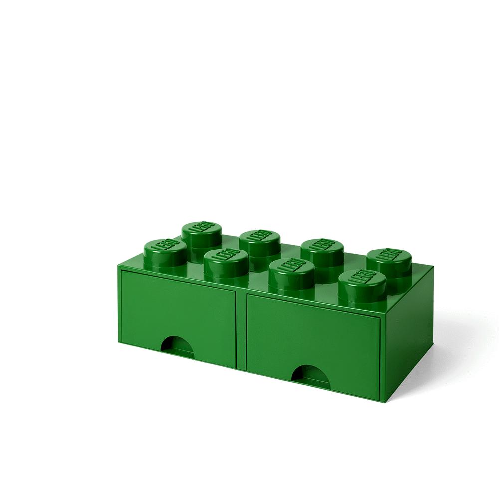 Image of LEGO Storage LEGO Opbevaringsskuffe Brick 8 - Mørk Grøn (fe65e7c5-a8cb-4a03-bd39-5b462aa72b2d)