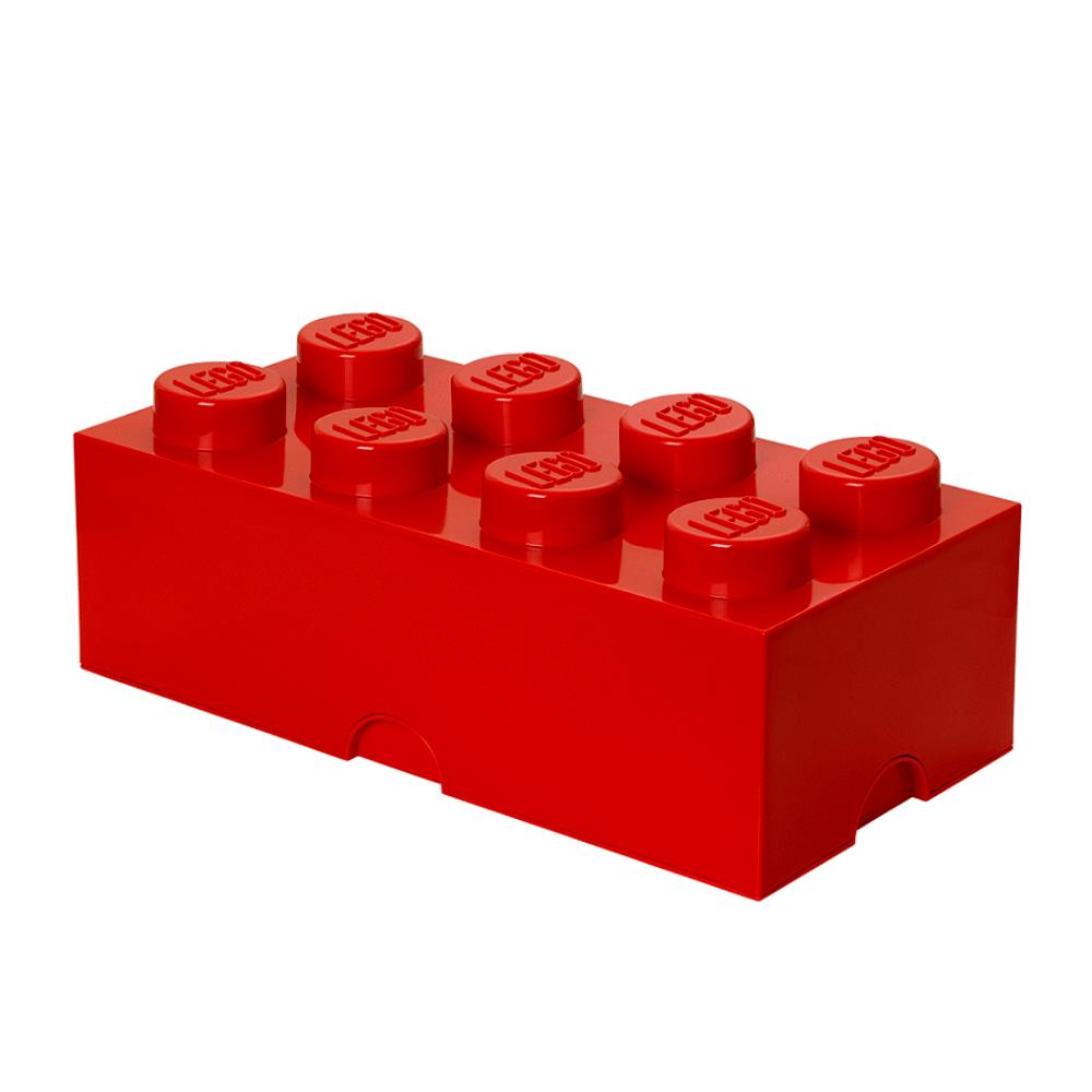 Image of LEGO Storage LEGO Opbevaringskasse 8 - Rød (3e2295d0-a337-4ba1-b3ff-ca07463aead7)