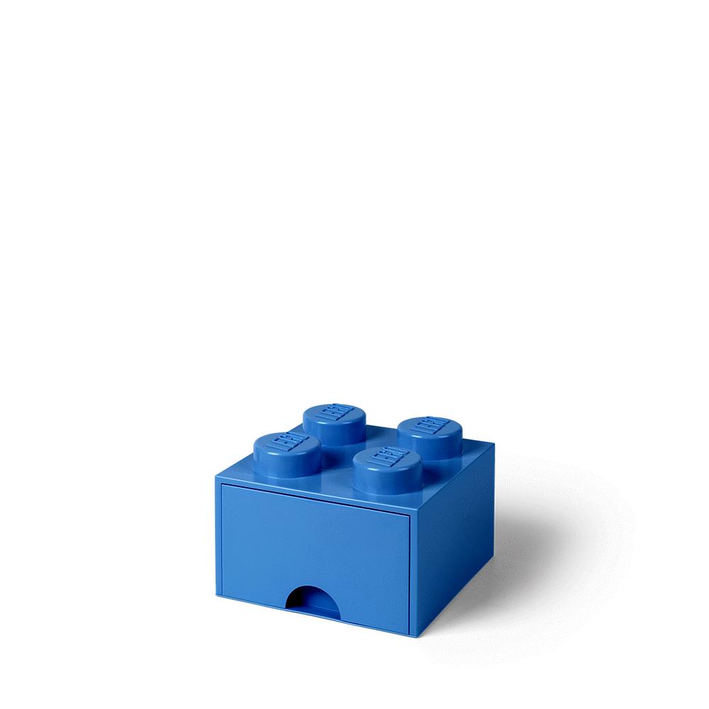Image of LEGO Storage LEGO Opbevaringsskuffe Brick 4 - Lys Royal Blå (10547f9a-e449-4e4f-a2c1-85e8db90f165)