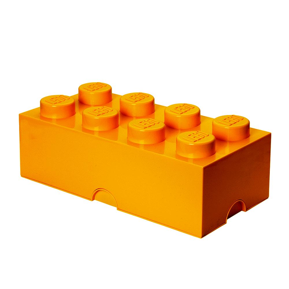 Image of LEGO Storage LEGO Opbevaringskasse 8 - Bright Gul (dad901ca-ba03-4f64-9daa-53d91bb0d59e)