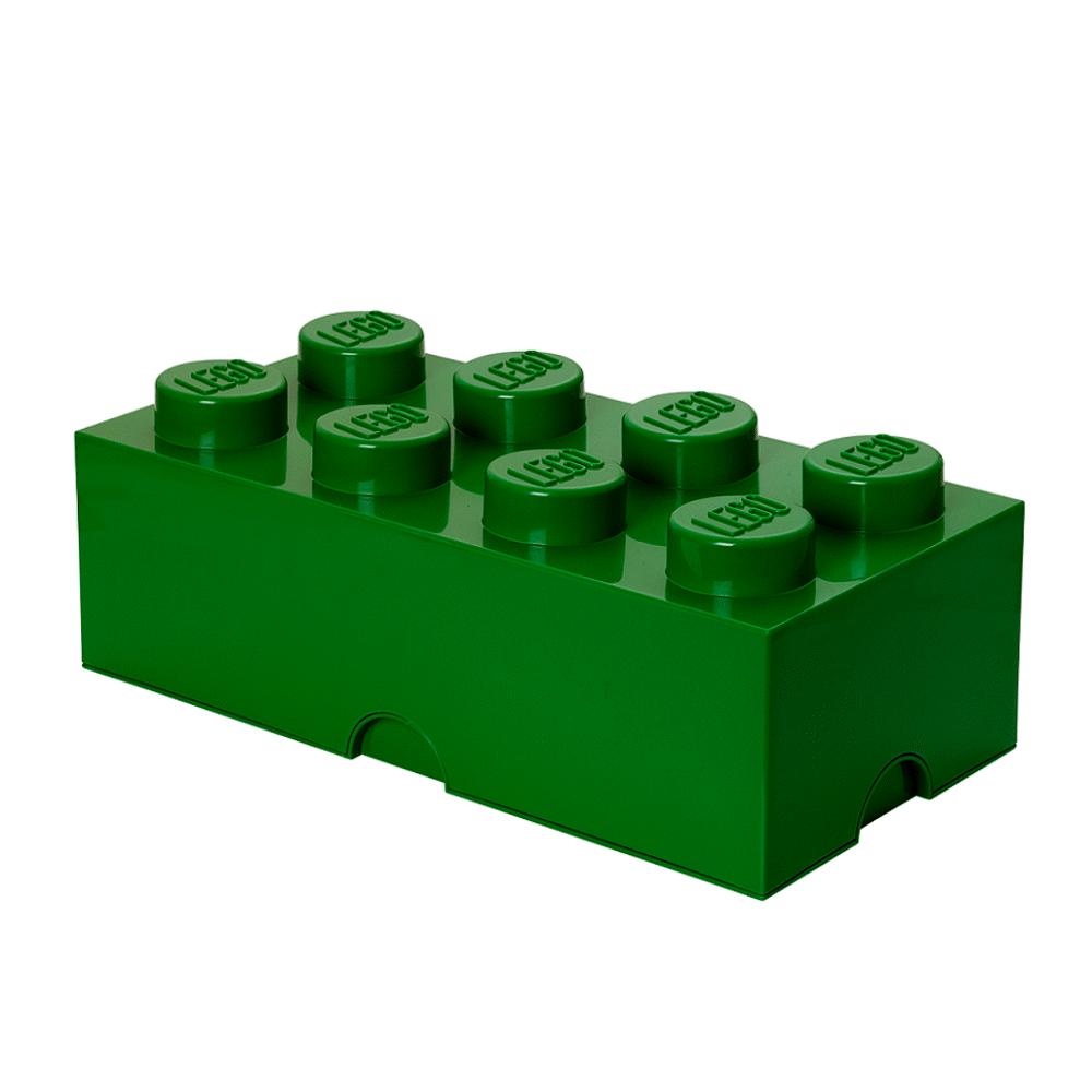 Image of LEGO Storage LEGO Opbevaringskasse 8 - Mørk Grøn (412b20e1-7956-42c7-bb1a-7fb866130807)