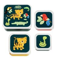 Lunch & snack box sæt - jungle tiger