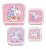 Lunch & snack box sæt - unicorn