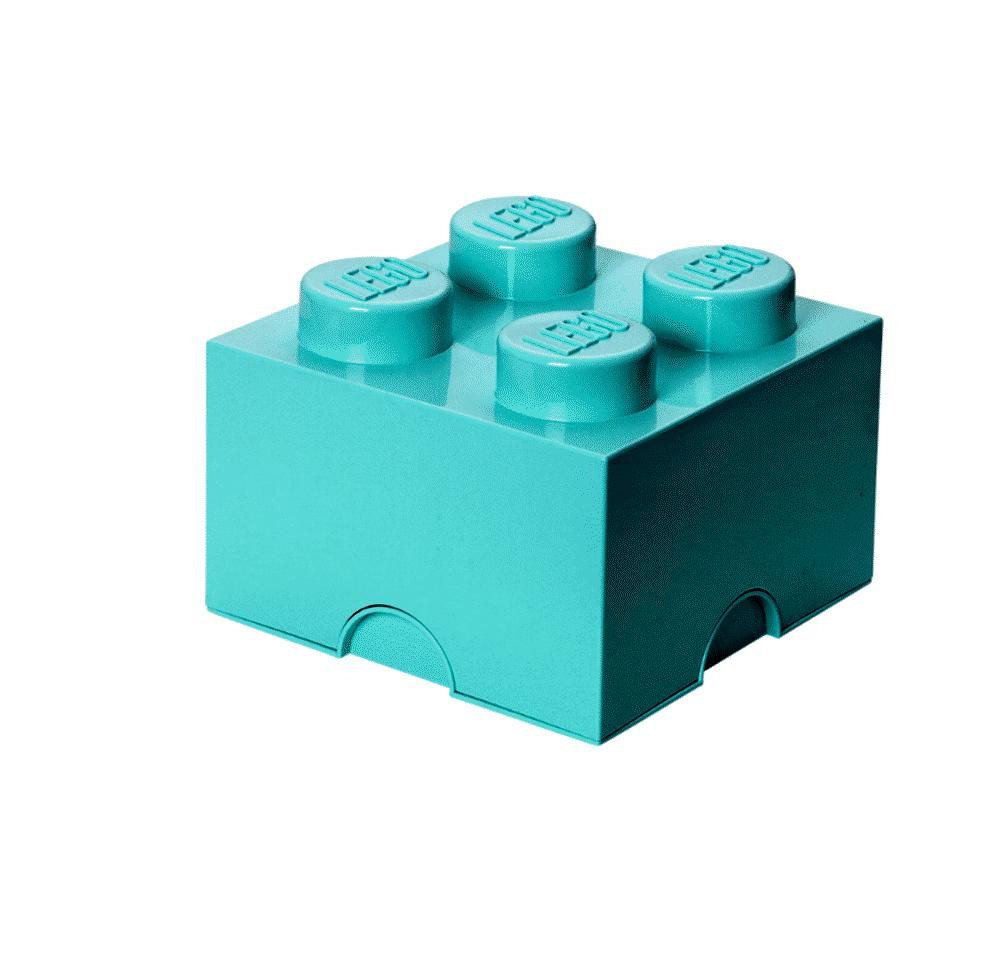 Image of LEGO Storage Lego Opbevaringskasse 4 - Aqua Blå (091f17b8-d245-467b-9f6a-8c1c7a99fdf1)