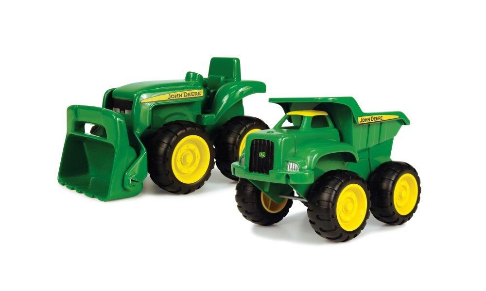 Image of John Deere JD Tractor & Dump Truck Sæt (8d71c437-acf8-4ba6-92a1-9e04f18508ed)