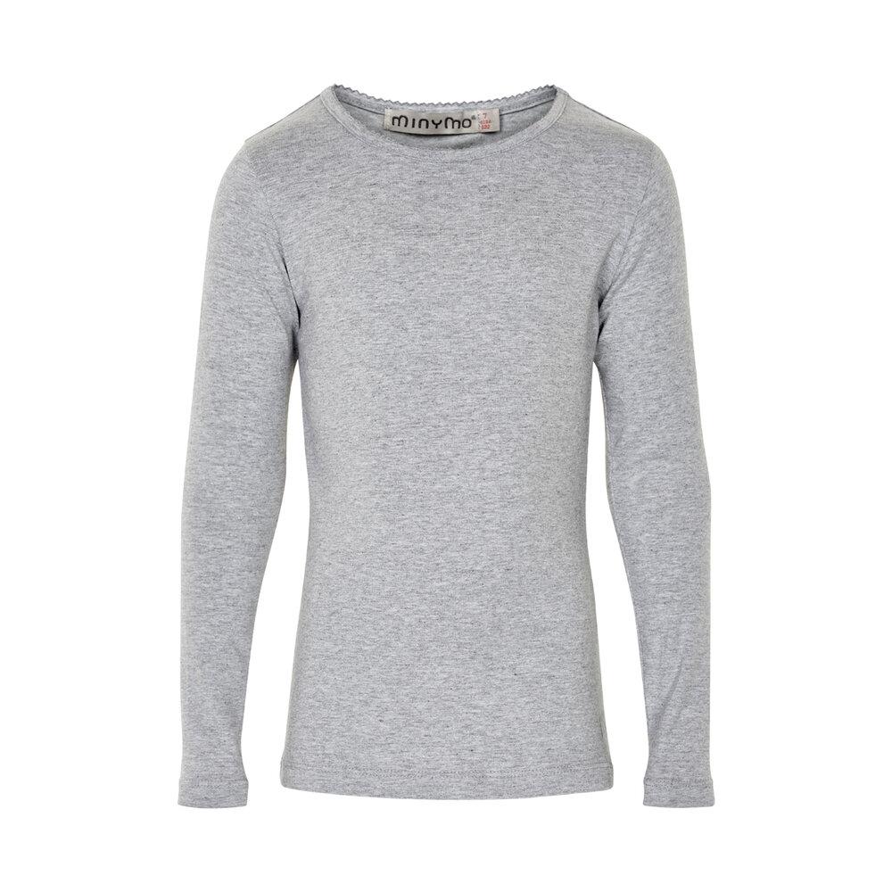 Minymo Basic Bluse - Light Grey/130