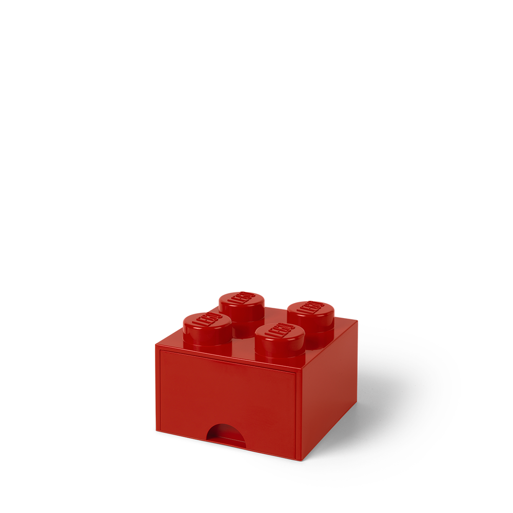Image of LEGO Storage LEGO Opbevaringsskuffe Brick 4 - Bright Rød (ff421e2d-17d4-47b4-b6f5-f9f1e613270b)