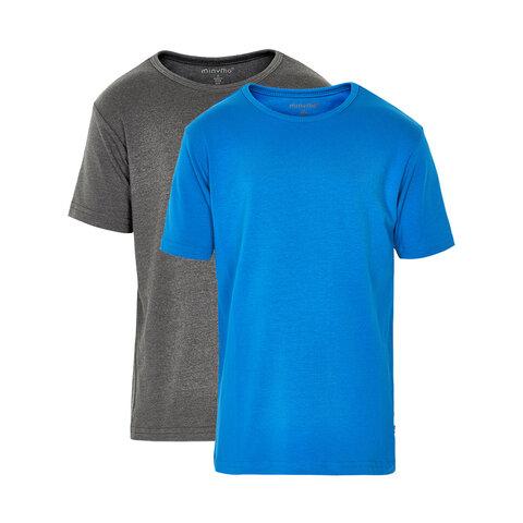 2 Pak Basic T-Shirts - 751 Directoire Blue