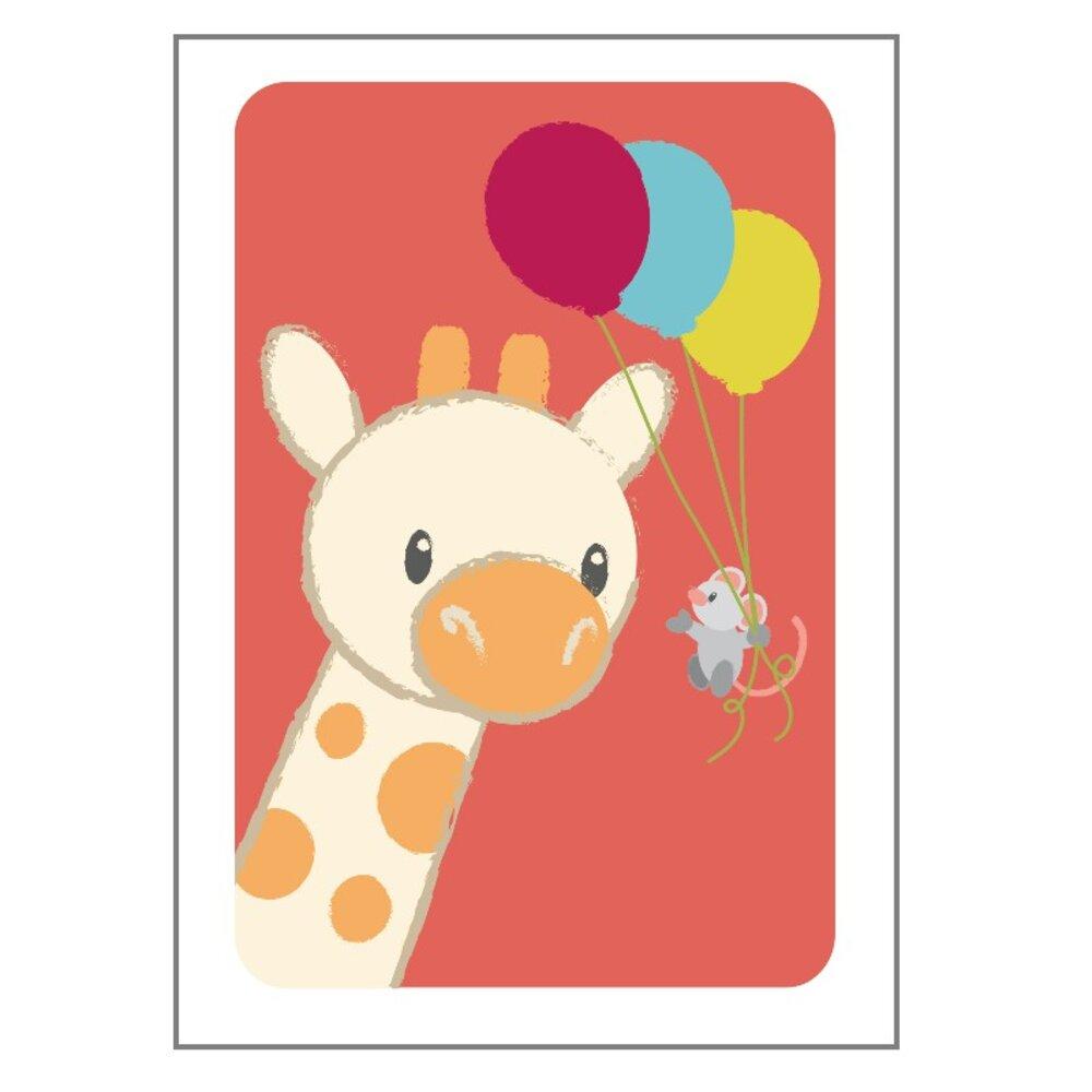 Image of Studio Circus Giraf Og Mus Plakat - 21x30 Cm (8ef08fd0-4789-48f7-92b5-b4c5df1f361d)