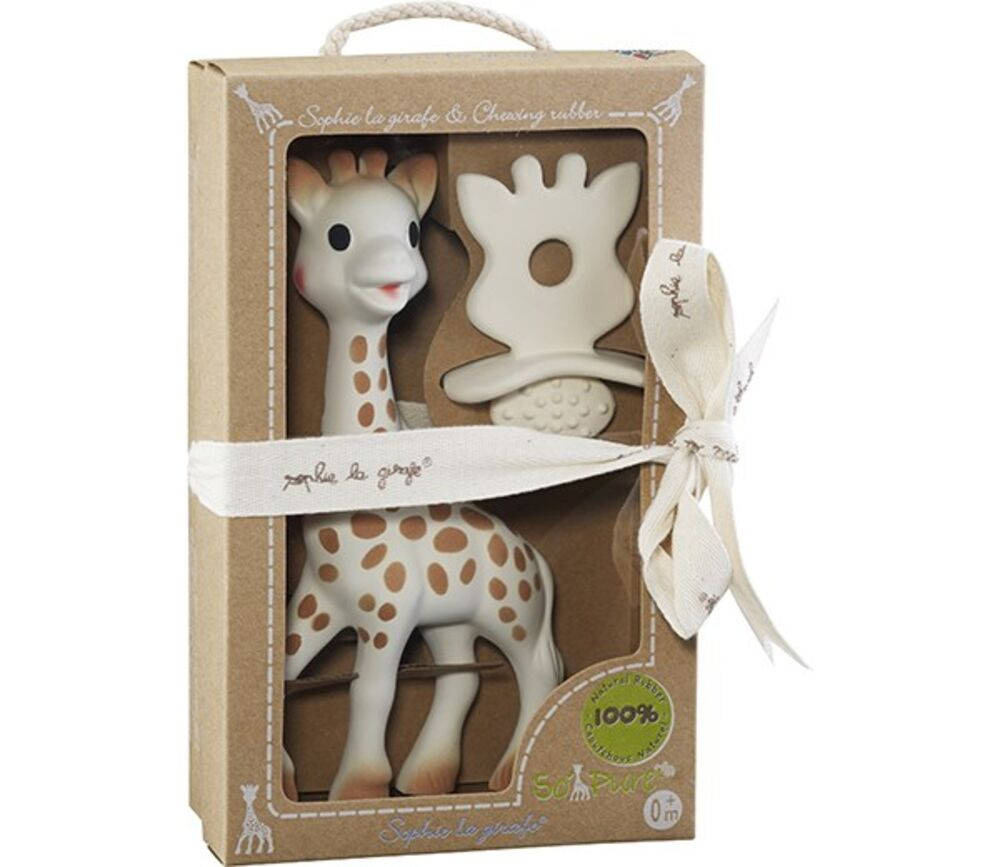 Image of Sophie la Girafe So Pure Sophie Giraf - 18 cm. + Natural Bidering (fb0aaccc-db18-44a4-9d66-85d93f7208ba)
