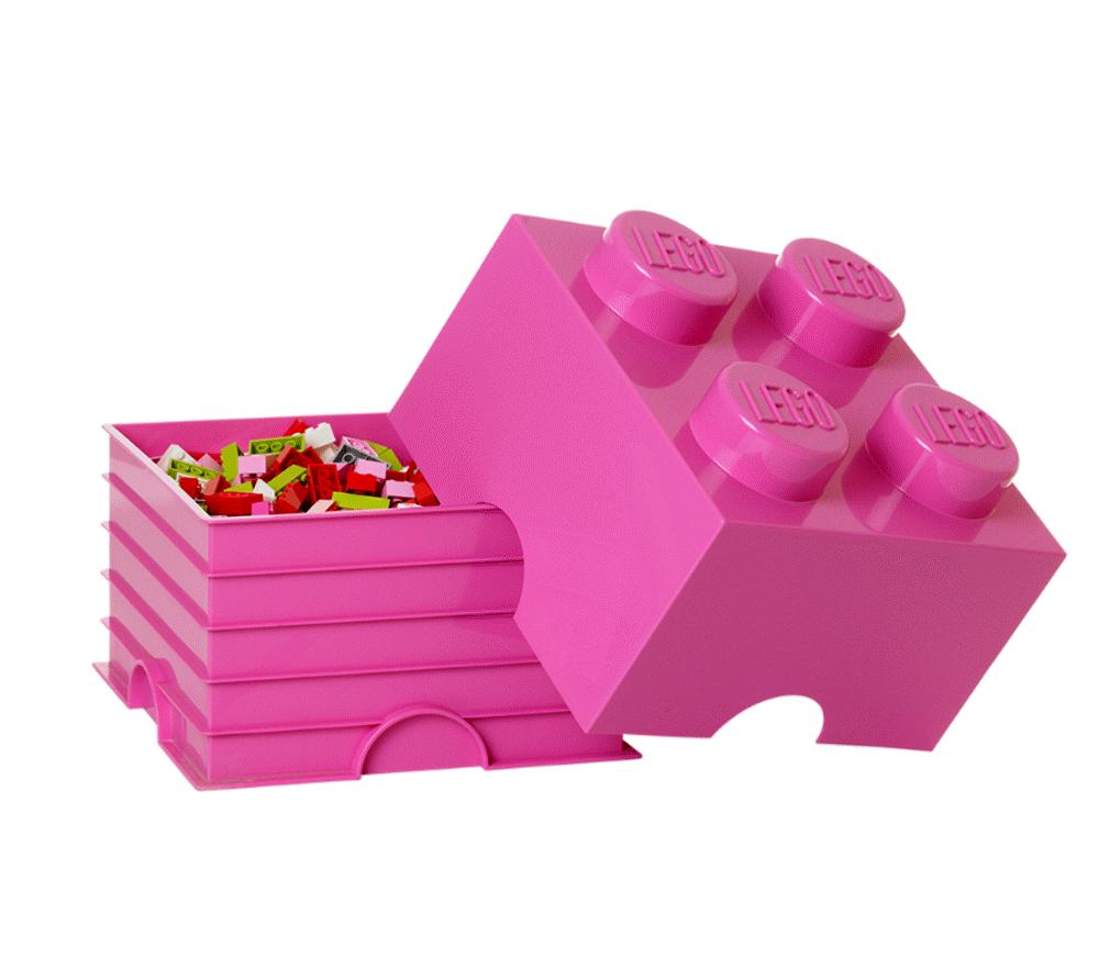 Image of LEGO Storage Lego Opbevaringskasse 4 - Pink (e8658752-6741-4706-8109-986f344bd6e6)