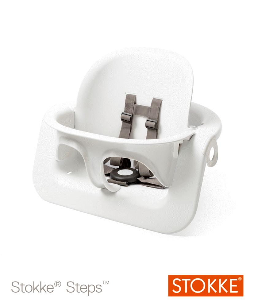 Image of Stokke® Steps™ Baby Set, Hvid (1ad9f47e-ba59-4dc9-8a5a-88d27bcf8a76)