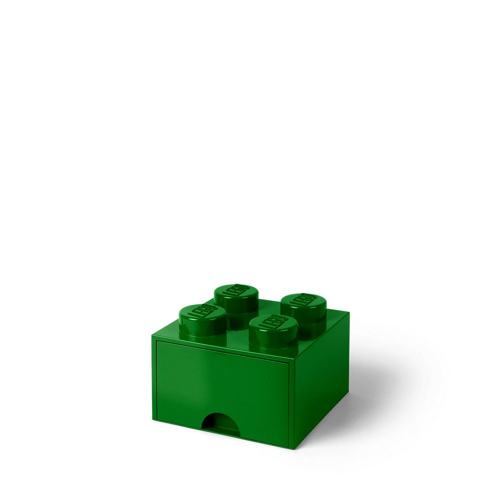 Image of LEGO Storage LEGO Opbevaringsskuffe Brick 4 - Mørk Grøn (df6cd136-ec61-436d-910b-670c85dec860)