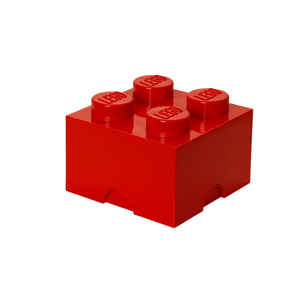 Image of LEGO Storage LEGO Opbevaringskasse 4 - Rød (fc0ca4db-d646-4647-8d59-9de05cd69159)