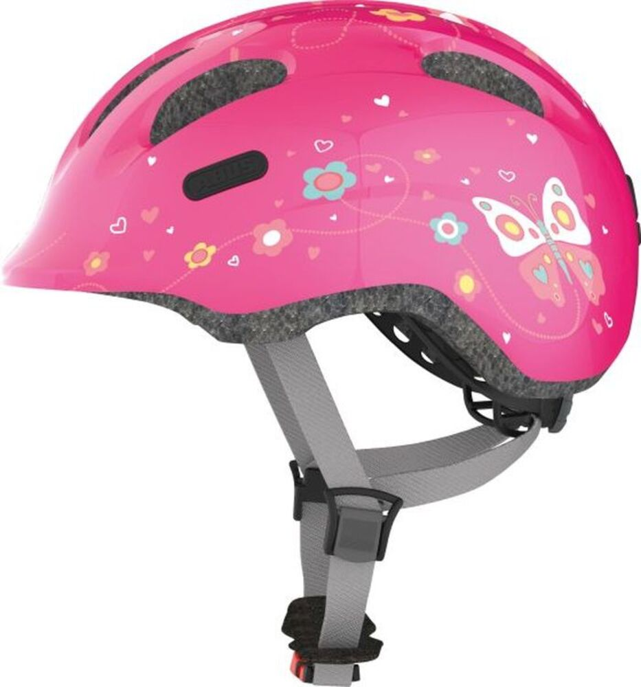 Image of Abus Smiley Hjelm 2.0 S (45-50 cm) - Pink Butterfly (76796ffd-b46c-48ab-9827-da56fdc2b30d)