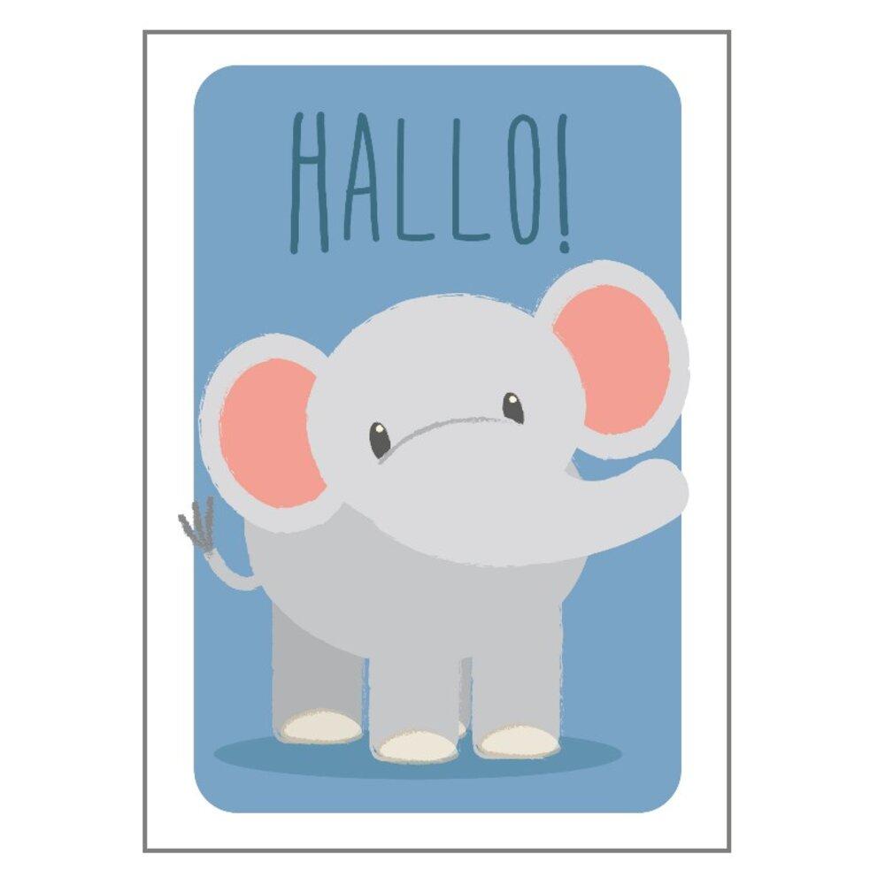 Image of Studio Circus Elefant Hallo Plakat - 21x30 Cm (73202345-c7f5-45b8-a9a4-e8454dff5b76)