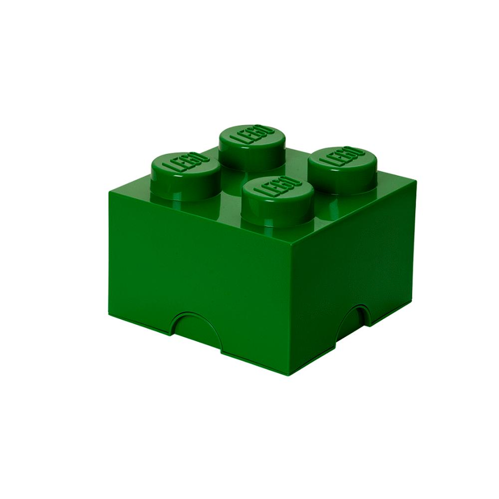Image of LEGO Storage LEGO Opbevaringskasse 4 - Mørk Grøn (b5628691-cff2-4335-9a0f-d324f13c7806)