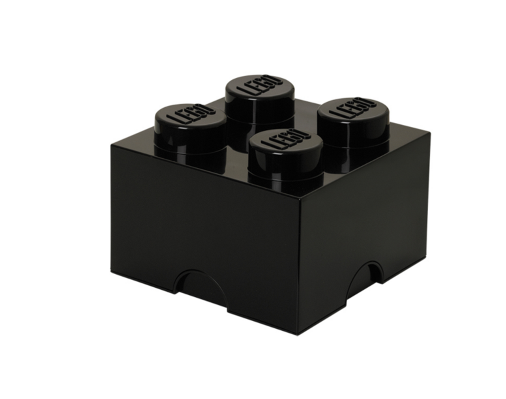 Image of LEGO Storage Lego Opbevaringskasse 4 Sort (3291d749-864f-4329-adc5-42e27c6ab87e)