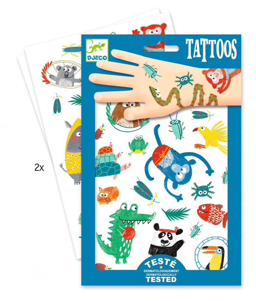 Image of Djeco Tattoos, Vilde Dyr (f373a7cb-5049-4b9f-b4a5-4ed5573564b0)