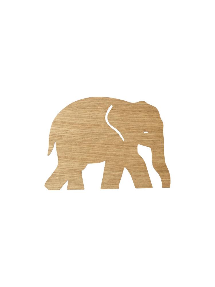 Image of ferm Living Elephant Lamp Lys Natur (d5e024c2-baa7-49b3-8afd-13baf7e330b0)