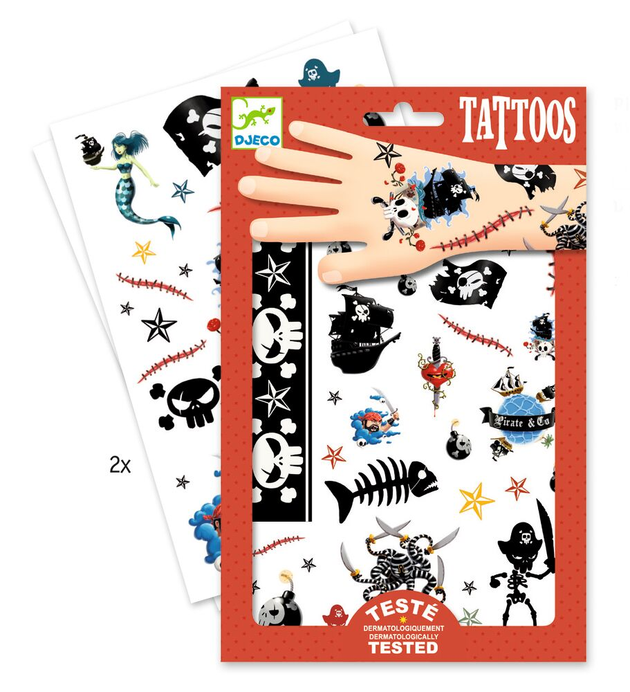 Image of Djeco Tattoos, Pirater (d2b1ae86-f21d-4ede-b5ce-345c18108d6c)