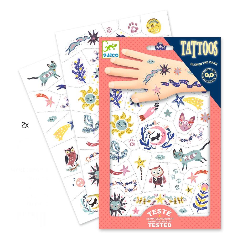 Image of Djeco Tattoos, Drømme Selvlysende (2e352c16-2bcd-4842-98ba-035babc691ab)